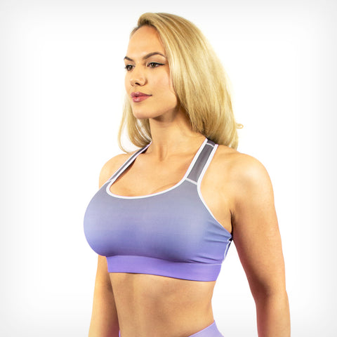 Violet fade sports bra Lift Heavy Apparel