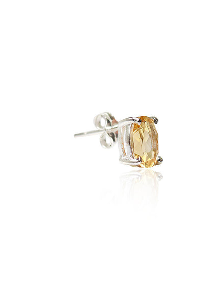Yellow Fellow Stud Earrings - Sterling Silver - LeCalla