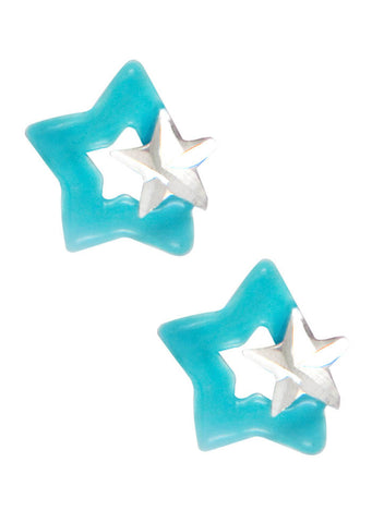 LeCalla's Blue Star Kids Stud Earrings - Sterling Silver - Online India