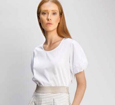 AS-621 Puffy Sleeve Cotton top