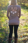 Skull You Later Cardigan- Mocha