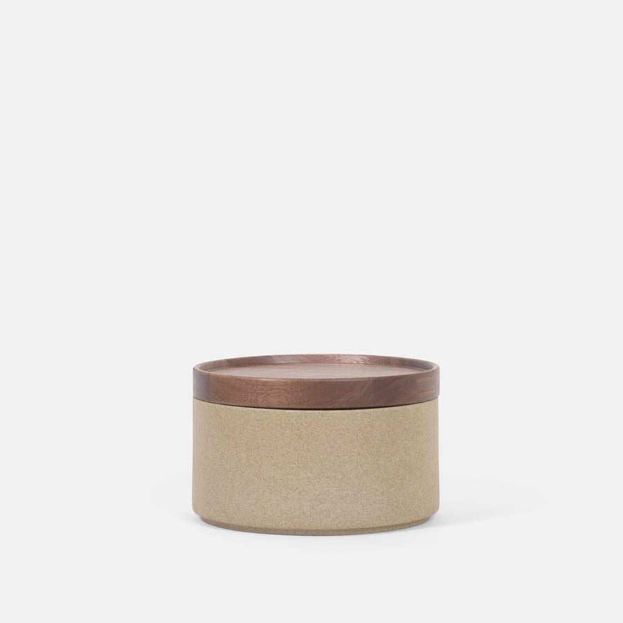 Tall Cylinder Beige Bowl