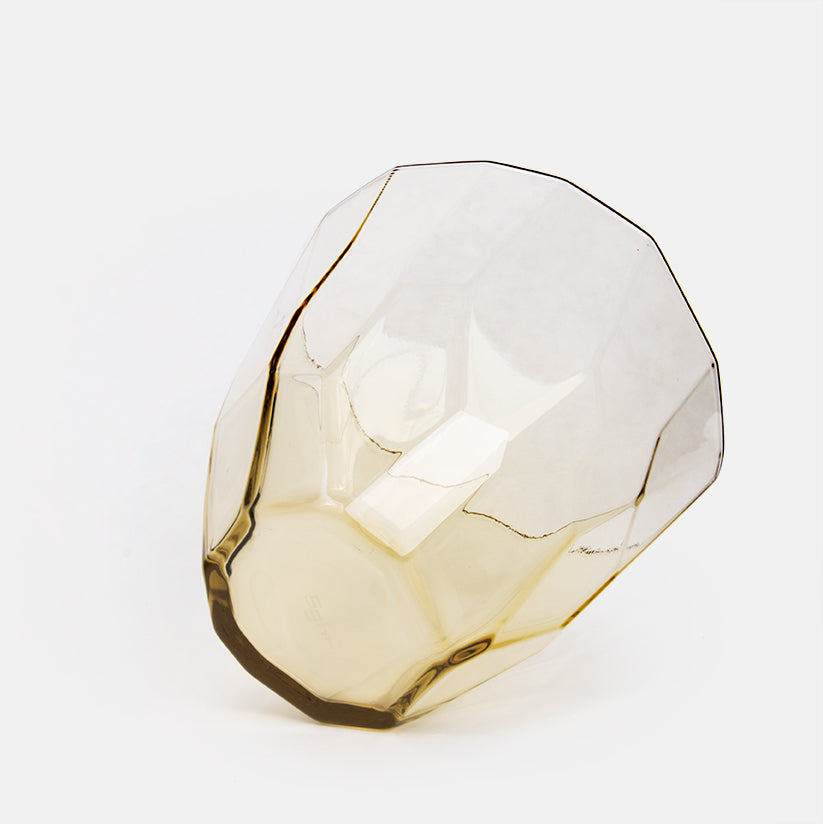 Faceted Tan Glass