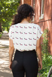 1960s style Dachsund Novelty Print Shirt