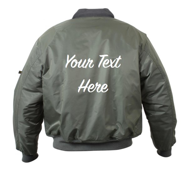 Personalized Custom Bomber Jacket (Front and Back Embroidery)