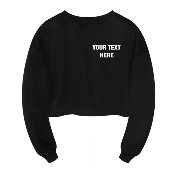 Personalized Cropped Sweatshirt
