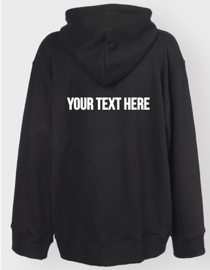 Personalized Oversized Hoodie (Front and Back Print)