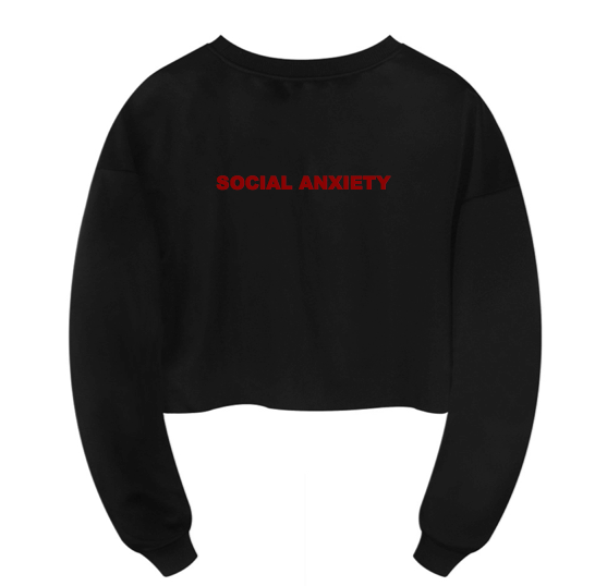 Social Anxiety Cropped Sweatshirt