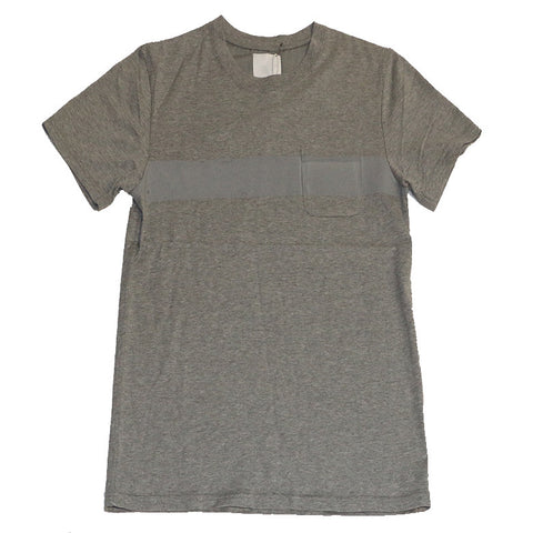 BOARDER PRINTED T-SHIRT ASH