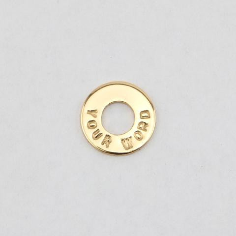 TOKEN  18k Gold Plated