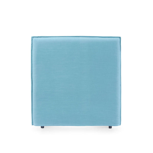 Juno Bedhead with Slipcover King Single Size Teal - Black Mango