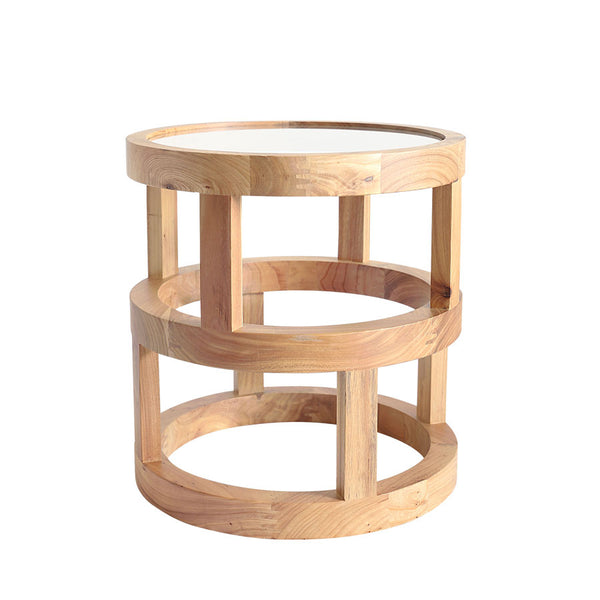Arlo Side Table Elm Wood - Black Mango