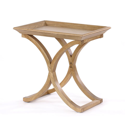 Evie Side Table Oak Cross Legs - Black Mango