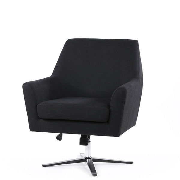 Ava Swivel Chair Black - Black Mango