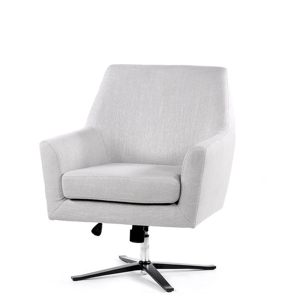 Ava Swivel Chair Taupe - Black Mango