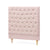 Charlotte Chesterfield Bedhead King Single Size Dusty Pink - Black Mango