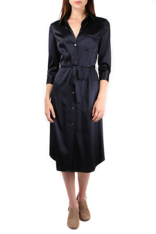 Bo Button Down Silk Dress