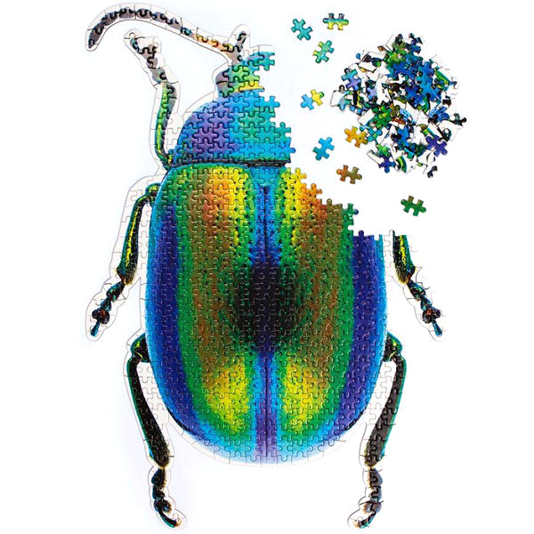 Iridescent Beetle Jigsaw Puzzle Picture