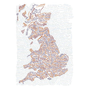 Song Map of Great Britain Poster