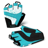 Breeze Women's Biking Cycling Gloves - with Adjustable Wrist Closure and Pull-Off Tapes - Teal