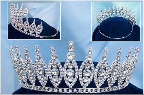 Queen of The Seven Seas Rhinestone Beauty Pageant Crown Tiara - CrownDesigners