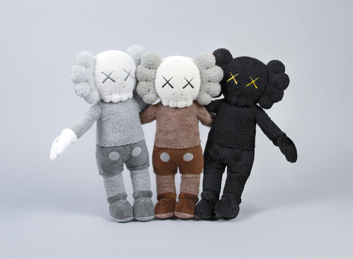 "KAWS:HOLIDAY Hong Kong Limited 20"" Companion Plush (2019) Black version"