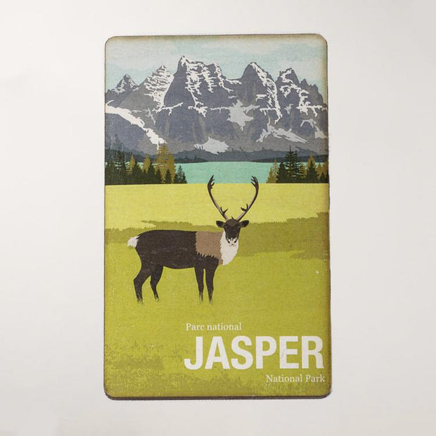 Jasper National Park Wooden Magnet