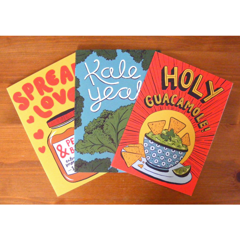 Plant Power Greetings Cards - Pack of 3