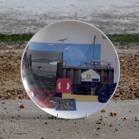 Old Leigh Fishing Boats Plate