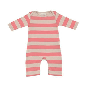 Bob & Blossom - Posy Pink & Sand Striped - Baby All in One