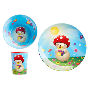Children's Melamine Dinner Set - Bubble by Tulipop - How I Wonder.co.uk - 1