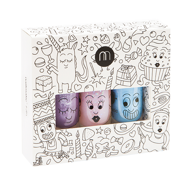 Nailmatic Kids - Party - Set of 3 nail varnishes - How I Wonder.co.uk