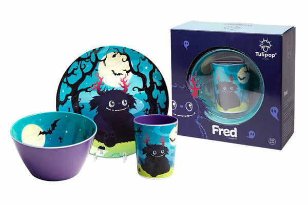 Children's Melamine Dinner Set - Fred by Tulipop - How I Wonder.co.uk - 2