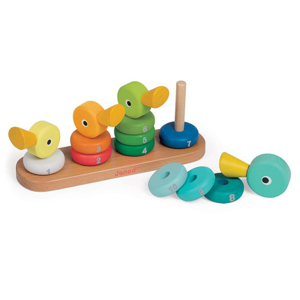 Janod Toys - Duck Family - Wooden Number Stacker - How I Wonder.co.uk - 2