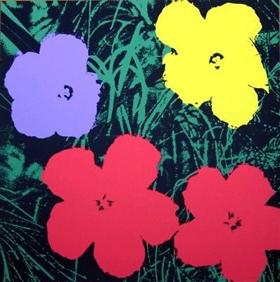 Flowers #73 (Sunday B. Morning), Silk-screen, Andy Warhol - with COA - Fine Artwork