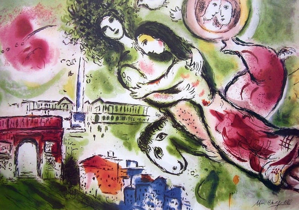 Romeo & Juliette, Limited Edition Offset Lithograph, Marc Chagall - Fine Artwork