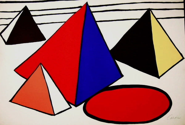 4 Great Pyramids, Limited Edition Lithograph, Alexander Calder - Fine Artwork
