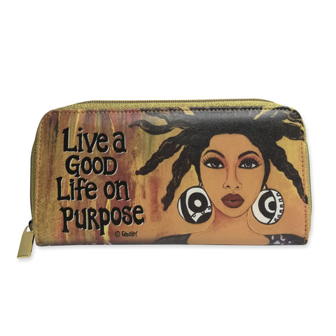 Living A Good Life On Purpose Long Wallet