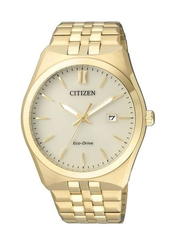 CITIZEN GENTS ECO- DRIVE GOLD BRACELET BM7332-61P