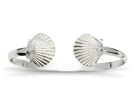 Sterling Silver Scallop Cuff Bracelet - Made in Rhode Island