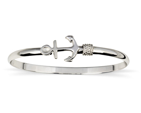Sterling Silver Anchor Bracelet - Made in Rhode Island