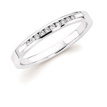 1/10 Ctw. Channel Set 10 Stone Diamond Anniversary Band In 14K Gold