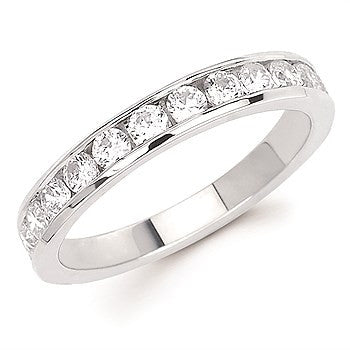 3/4 Ctw. Channel Set 14 Stone Diamond Anniversary Band In 14K Gold