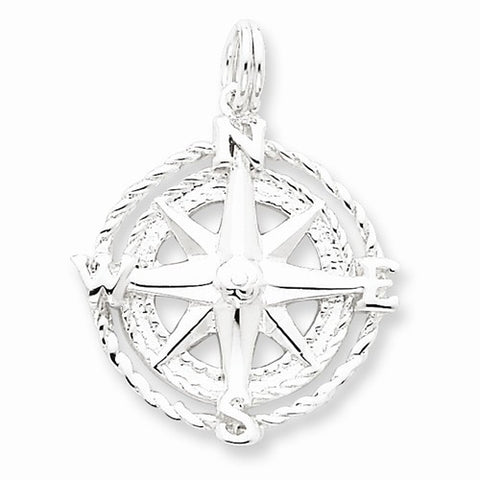 Compass Pendant - Sterling Silver