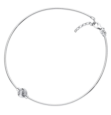LeStage Cape Cod Sterling Silver Anklet [Single Spiral Ball]