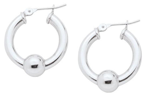 Lestage Cape Cod Jewelry - Single Ball Small Earrings - Sterling Silver