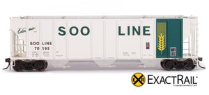 X - PS-2CD 4427 Covered Hopper : SOO LINE : 70193 - ExactRail Model Trains - 2