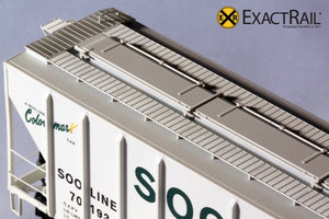 X - PS-2CD 4427 Covered Hopper : SOO LINE : 70193 - ExactRail Model Trains - 6
