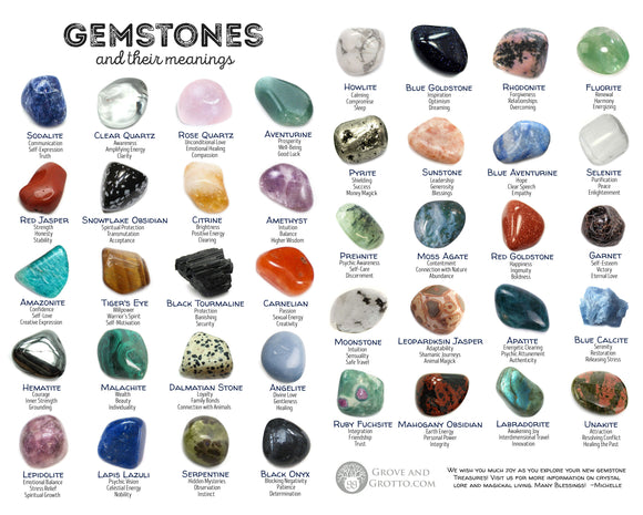 Gemstones and their meanings: 40 stones for magick and meditation