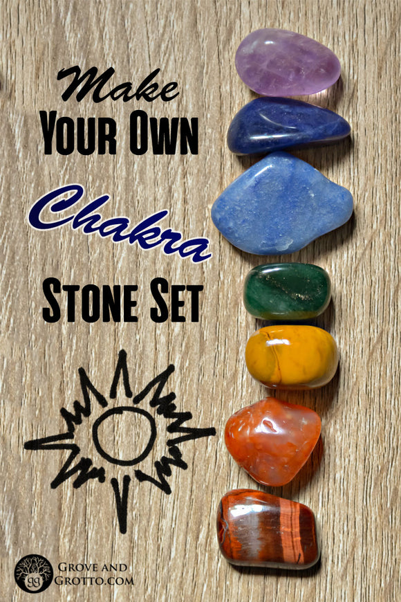 How to make your own chakra stone set
